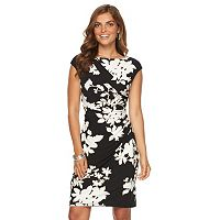Women's Chaps Floral Draped Sheath Dress