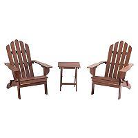 Sunjoy Adirondack Chair & End Table 3-piece Set