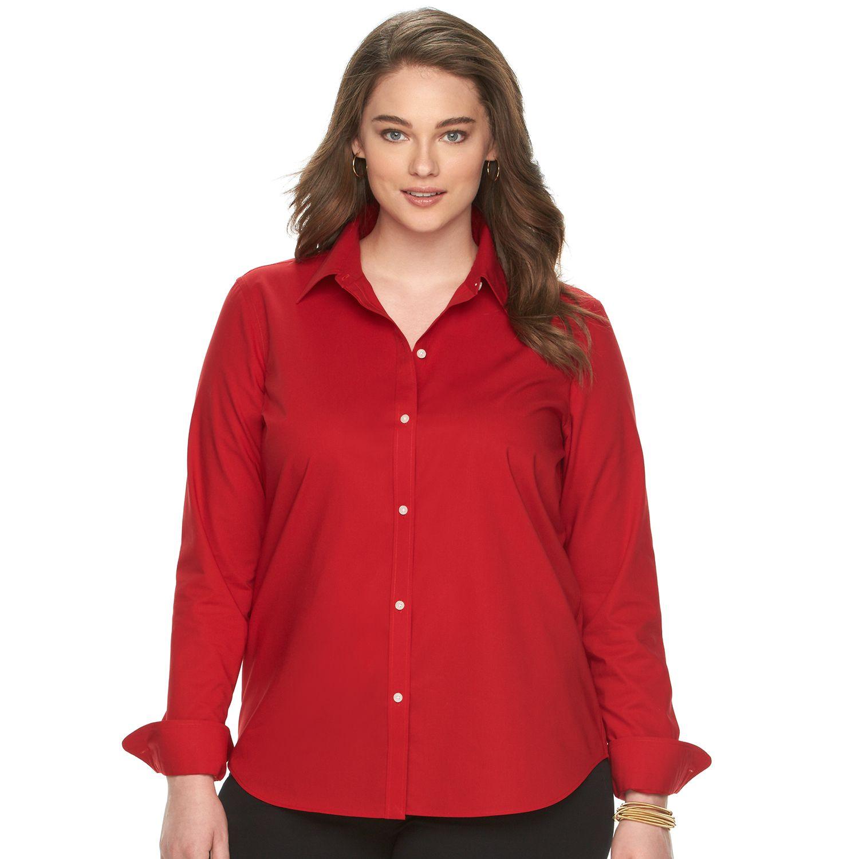 Plus Size Chaps No-Iron Shirt
