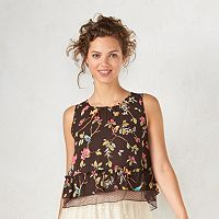 Disney's Snow White A Collection by LC Lauren Conrad Crop Lace Top - Women's