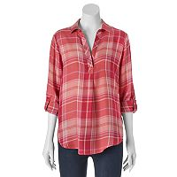 Women's SONOMA Goods for Life™ Plaid Top