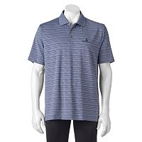 Men's Pebble Beach Classic-Fit Embossed Striped Performance Golf Polo