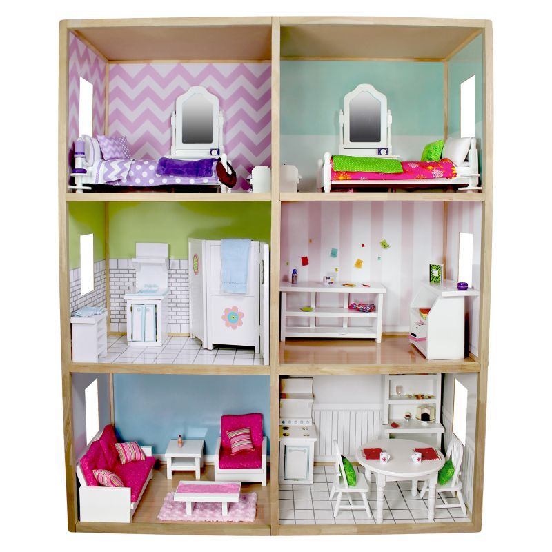 My Girl Modern Style Dollhouse for 18-in. Dolls, Multicolor