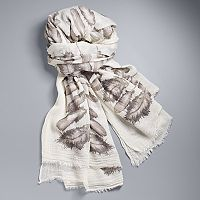 Simply Vera Vera Wang Feather Wrap Scarf