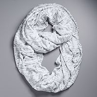 Simply Vera Vera Wang Heathered Jersey Pleated Infinity Scarf