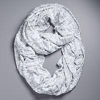 Simply Vera Vera Wang Heathered Jersey Pleated Infinity Scarf