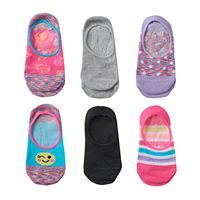 Girls 4-16 Capelli Pattern 6-pk. No-Show Socks