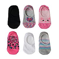 Girls 4-16 Capelli 6-pk. Solid & Print Liner Socks