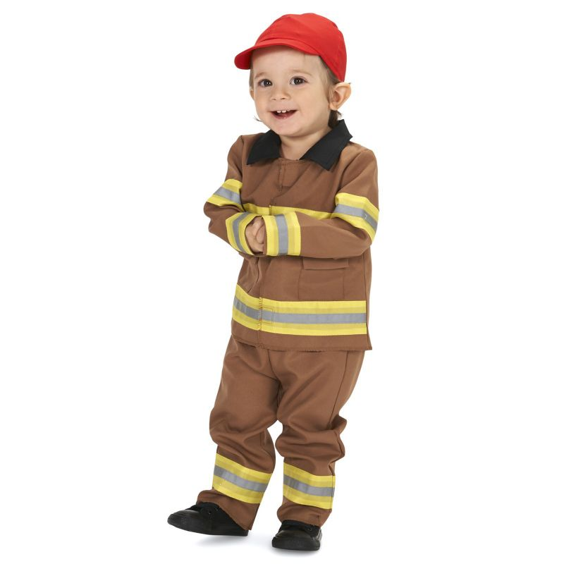 Baby Brave Firefighter Costume with Cap, Infant Boy's, Size: 18-24MONTH, Multicolor