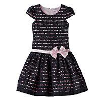 Girls 4-6x Nannette Floral Lace Burnout Stripe Dress