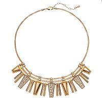 Jennifer Lopez Geometric Bar Statement Necklace
