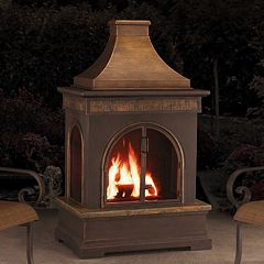 Click here to buy Sunjoy Hardy Outdoor Fireplace .
