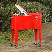 Sunjoy 60-Quart Wheeled Patio Cooler
