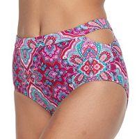 Women's Aqua Couture Paisley High-Waisted Bikini Bottoms