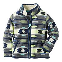 Boys 4-8 Carter's Patterned Microfleece Zip-Up Jacket