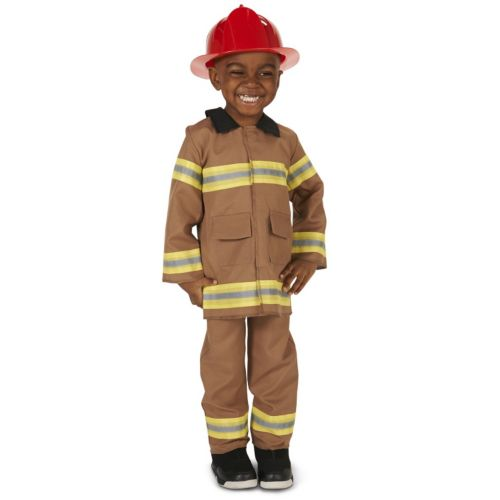 Toddler Firefighter Costume With Helmet