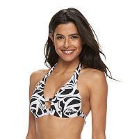 Women's Apt. 9® Abstract Push-Up Halter Bikini Top