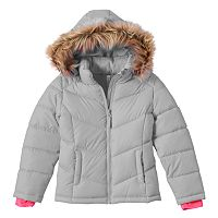 Girls 4-16 SO® Midweight Solid Puffer Jacket