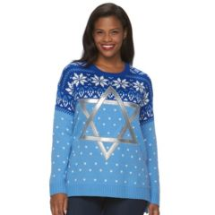 Plus Size US Sweaters Hanukkah Graphic Sweater