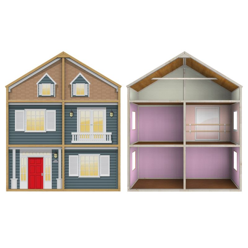 My Girl Country French Style Dollhouse for 18-in. Dolls, Multicolor