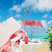 Sunjoy Pink Flamingos Garden Statue