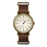 Timex Men's Weekender Leather Watch - TW2P85700JT