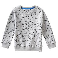 Boys 4-7 No Retreat French Terry Planets & Spaceship Tee