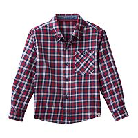 Toddler Boy No Retreat Red Plaid Shirt