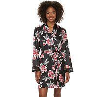 Women's Apt. 9® Lace Satin Wrap Robe