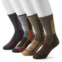 Men's Columbia 4-pack Colorblock Moisture-Control Crew Socks