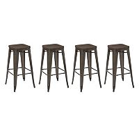 OSP Designs Metal Bar Stool 4-piece Set