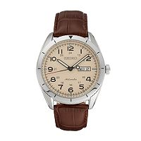 Seiko Men's Core Leather Automatic Watch
