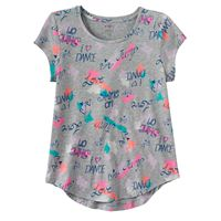 Girls 7-16 SO® Short Sleeve Curve Hem Tee