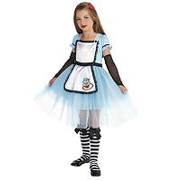 Kids Alice with Knee Highs & Hair Clip Costume