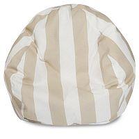 Majestic Home Goods Vertical Stripe Indoor / Outdoor Small Beanbag Chair