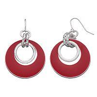Circle Link Graduated Drop Earrings