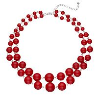 Graduated Bead Double Strand Necklace