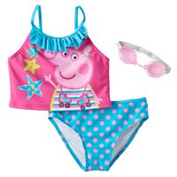 Girls 4-6x Peppa Pig 2-pc. Ruffle Tankini Swimsuit Set