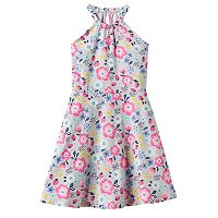 Girls 4-10 Jumping Beans® Print Halter Dress