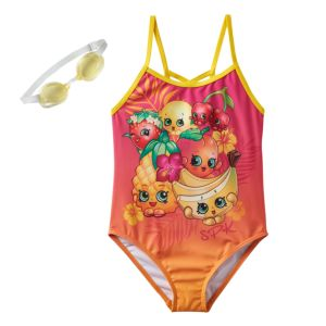 Girls 4-6x Shopkins Strawberry Kiss, Pippa Lemon & Cheeky Cherries Tropical Fruit One-Piece Swimsuit