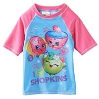 Girls 4-6x Shopkins Cupcake Queen, D'Lish Donut & Apple Blossom Rashguard