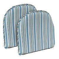 The Gripper Cottage Stripe Chair Pad 2-pk.