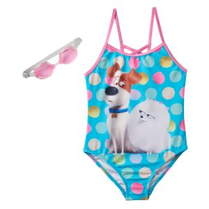 Girls 4-6x The Secret Life of Pets Max & Gidget One-Piece Swimsuit