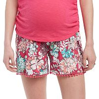 Maternity Oh Baby by Motherhood™ Secret Fit Belly™ Print Soft Shorts