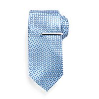 Men's Apt. 9® Greenberg Patterned Tie with Tie Bar