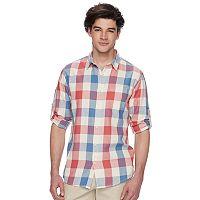 Men's Urban Pipeline® Plaid Roll-Tab Button-Down Shirt