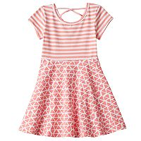 Toddler Girl Jumping Beans® Cross Back Mix Pattern Skater Dress