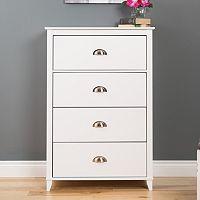 Prepac Yaletown 4-Drawer White Dresser