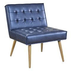 Ave Six Amity Metallic Finish Tufted Accent Chair  by
