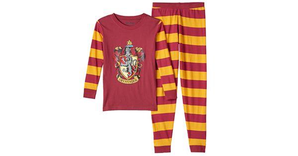 Boys Harry Potter 2 Piece Gryffindor Pajama Set